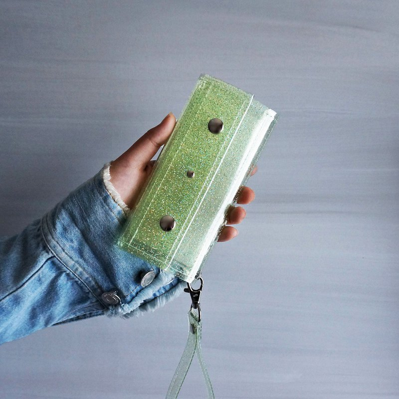 Lame skeleton melon Green clear iPhone case PVC transparent notebook type smartp