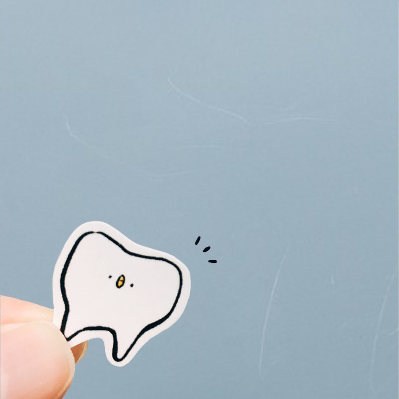 Leaflet Buy / Baby Teeth - Chicken Camouflage Series / Matte Hand Painted Stickers