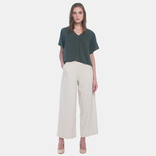 Buttoned Shirt W Drawstring (Military Green)