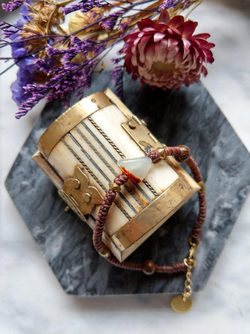 Oˋre Silver bracelet series wax rope bracelet and Tianyu brass 12 with designer exclusive wooden box