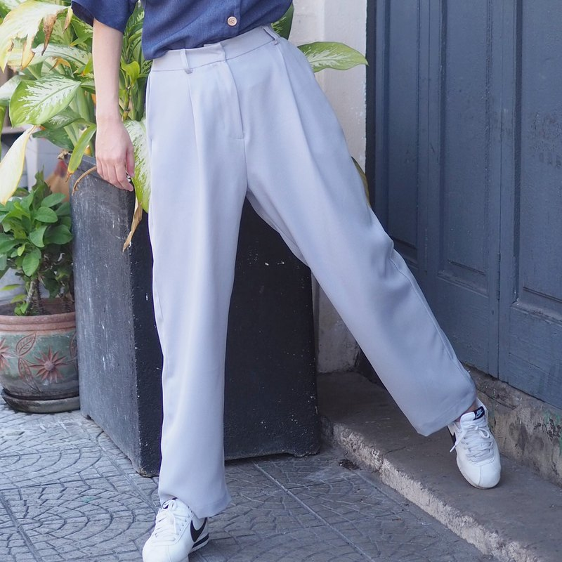 Basic Loose Vintage Pants : Light Blue