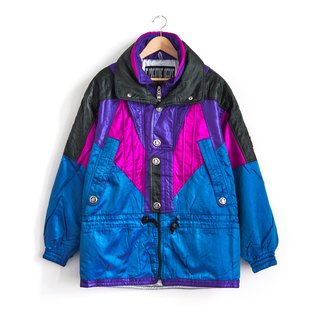 Vintage purple stitching double ski coat vintage coat