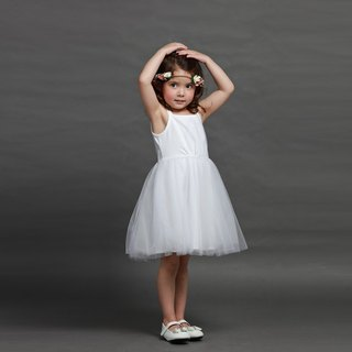 Tutu Studio basic style thin shoulder dress / fluffy dress _ can change their own accessories into a variety of dress