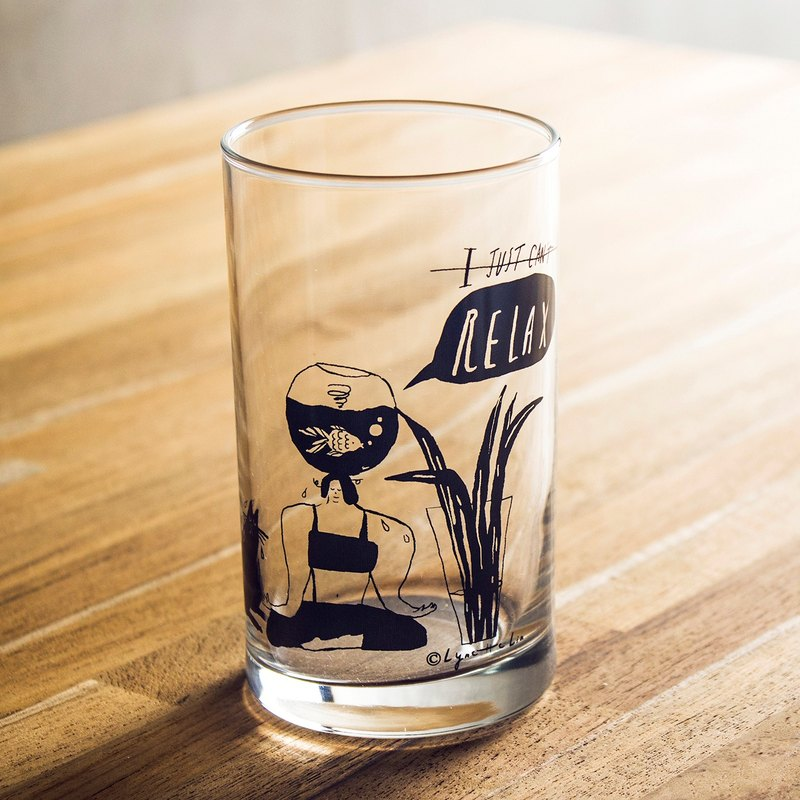 Just Relax - Tumbler Illustrated Glass