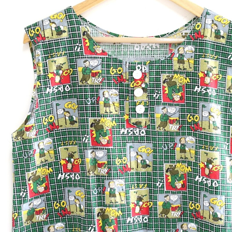 │Slowly│Cartoon-Ancient Vest │vintage.Retro.Literature