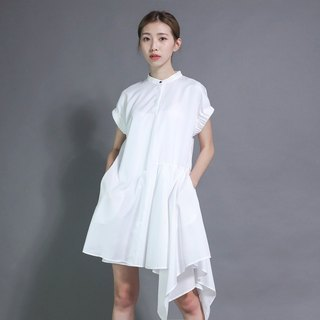 Voyager navigator asymmetric wave dress _7SF015_白