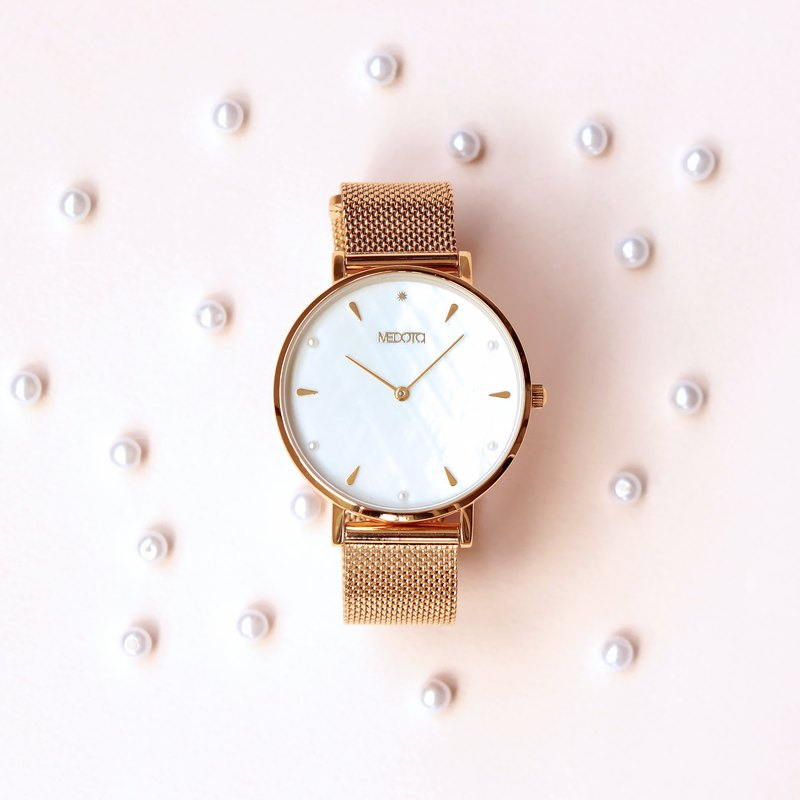 THETIS collection minimalist shell ladies watch / SE-8506