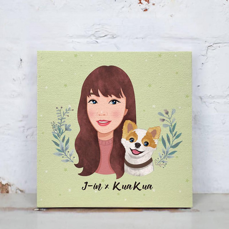 Customized character pet painting / frameless painting (card wind)