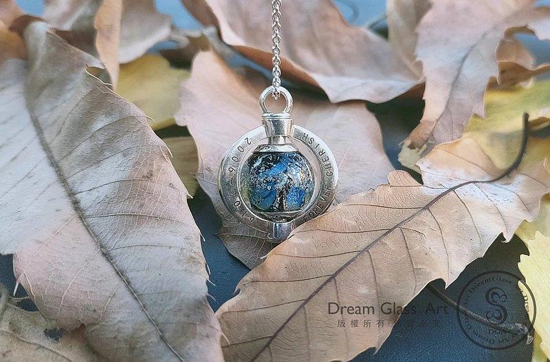 骨灰琉璃珠-永恆系列-單顆價格(含項鍊)-骨灰項鍊-GBB-20200101