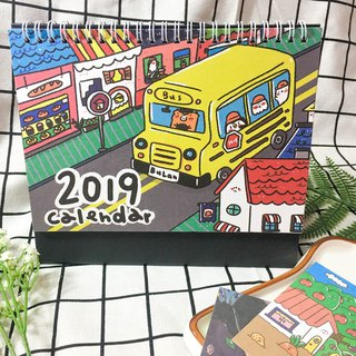 /2019 desk calendar / cloth to go with Mr. White Bear, a goose to spend with you 2019