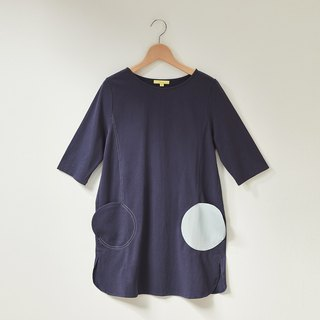 Ángeles - Big Girl - Two Round Pocket Shape Short Dress
