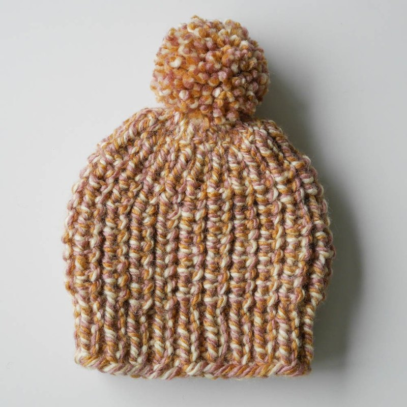 [Bao Bao coarse wool cap - turmeric powder]
