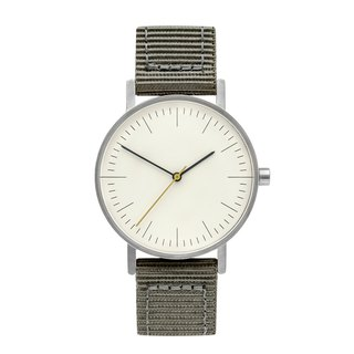 BIJOUONE B001 SILVERILVER WATCH ON NYLON STRAP, GREY