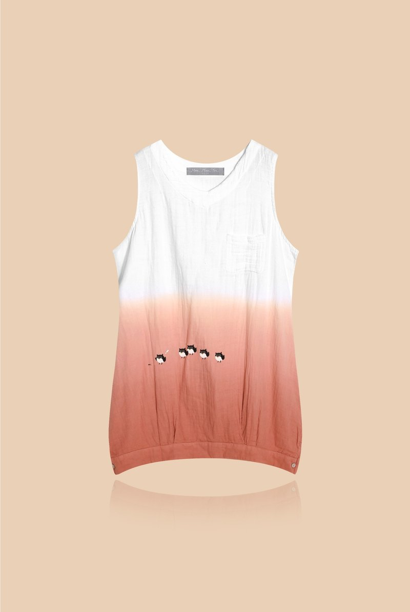 [Last one] to step forward to a friend - gradient cotton sleeveless dress
