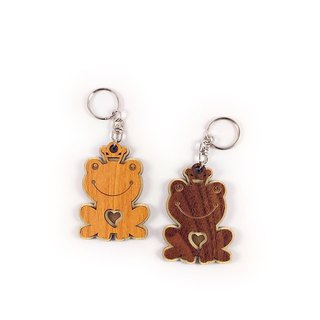 Wood Carving Key Ring - Frog