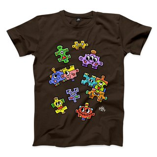 PUZZLE - Dark Coffee - Neutral T-Shirt