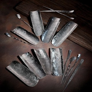 [Handmade utensils] God's expression - eight will be pure silver tea then x1 + tea needle x1 group