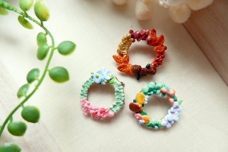 [Four Seasons Garland Series] Flower Plant Brooch Custom Made
