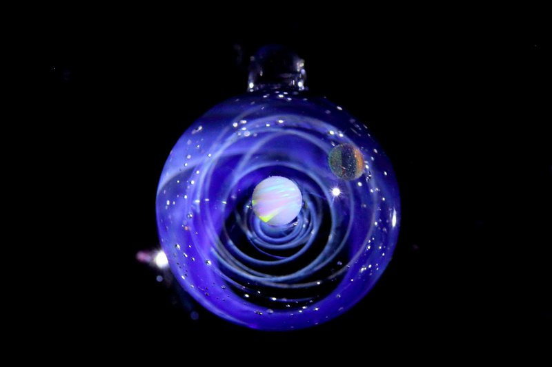 SPIRAL GALAXY 2 opal space glass pendant no.808