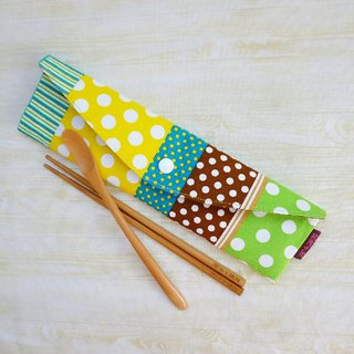 (Hard version) Green little longer to increase environmental protection tableware package chopsticks set straw bag