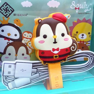Cute Squirrel Cartoon Character Cable Winder Plus (Little Red Riding Hood - Squly) - E014SQE