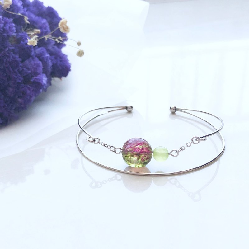 Dream bracelet watermelon tourmaline grape chalcedony bracelet handcuffs (can add English letters / heart)
