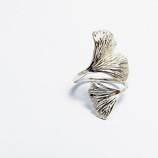 zo.craft ginkgo double ring / 925 Silver