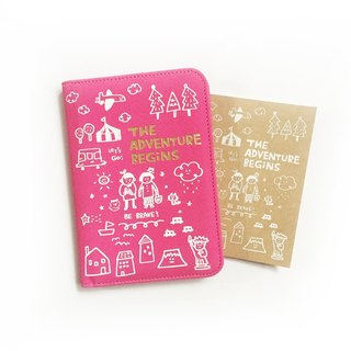 The Adventure Begins series passport folder _ cherry powder