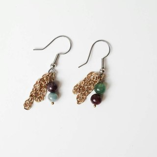 Golden Age [X] handmade natural stone earrings