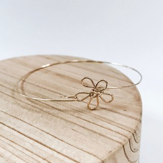 Flower。Bangle。Spring 。14Kgold / Silver