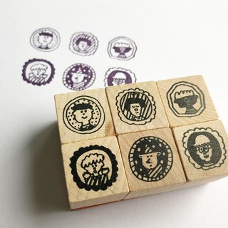 Japanese Wood Stamp Series - Badge Life