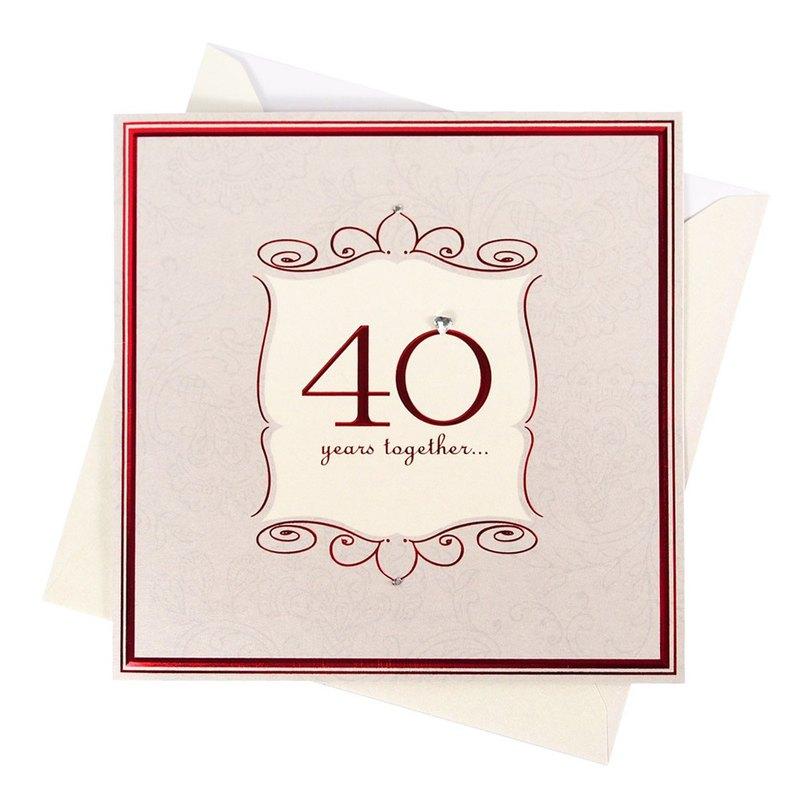 40週年快樂-紅寶石婚【Hallmark-卡片 週年感言】