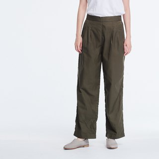 Jacob Wide Leg Pockets Crop Pants Olive green