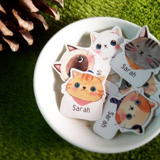 Customized Name Sticker - Cat