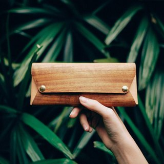 【TREETHER】Teak Pencil Case