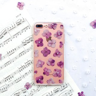 满满 绣球花 • Hydrangea Handpressed Flower Phone Case