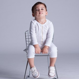Onesie with long zipper - 100% organic cotton