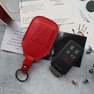 Volvo Volvo car key set Italy imported vegetable tanned leather handmade leather design customized