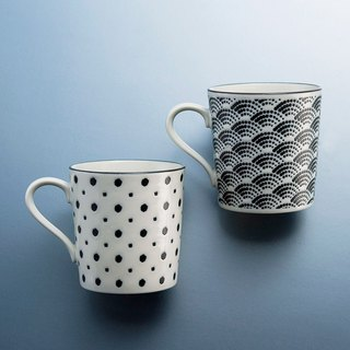There is a kind of creativity - Japan Meinong - small grain mark on the cup group (2 pieces)
