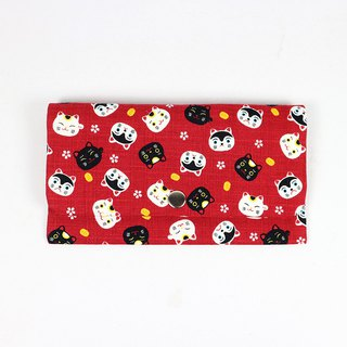 Red envelopes bankbook cash pouch - cute cat (red)