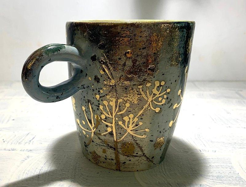 金黃花果咖啡杯(售完再製款)_陶器馬克杯