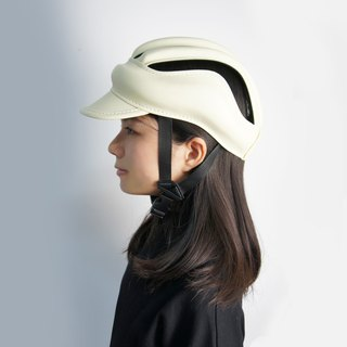 SE ic | Leather Retro Bicycle Cap | Beige