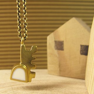 [Small house - Detached necklace] (white)