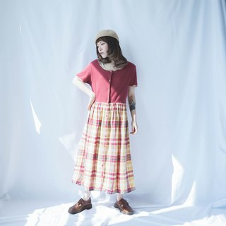 VINTAGE PATCHWORK CHECKED DAY DRESS