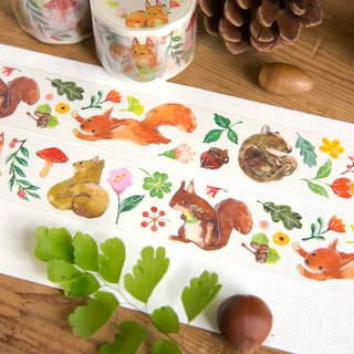 Squirrel Time - OURS Original Washi Masking Tape by Koopa