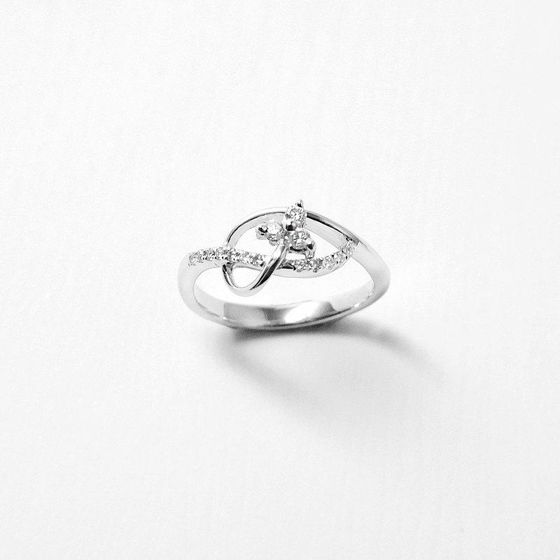 18K金鑽戒 750手工製作 天然鑽石 希望-流星系列-擁