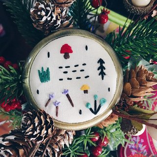 Forest Park Embroidery | Embroidery Compact Mirror | Christmas Gift