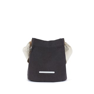 RAWROW-City Series-Canvas Bucket Bag (Small)-Carbon Black-RCR711CH