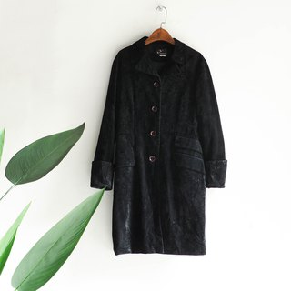 River water - Gifu melamine classic sheep antique suede coat vintage vintage overcoat