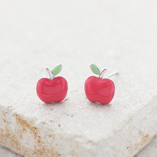 Apple Earrings in 925 Sterling Silver